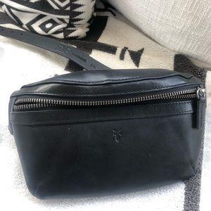 Black Leather Fanny Pack M/L